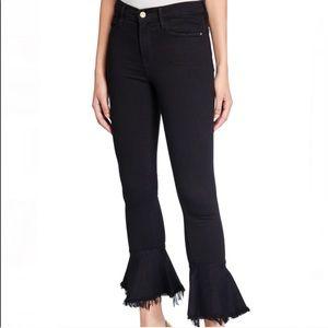 FRAME black Le Skinny de Jeanne Flounce Jeans